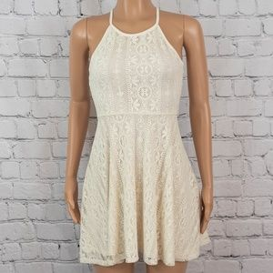 Off white cream lace dress